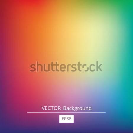 Colorido gradiente vetor abstrato turva Foto stock © creativika