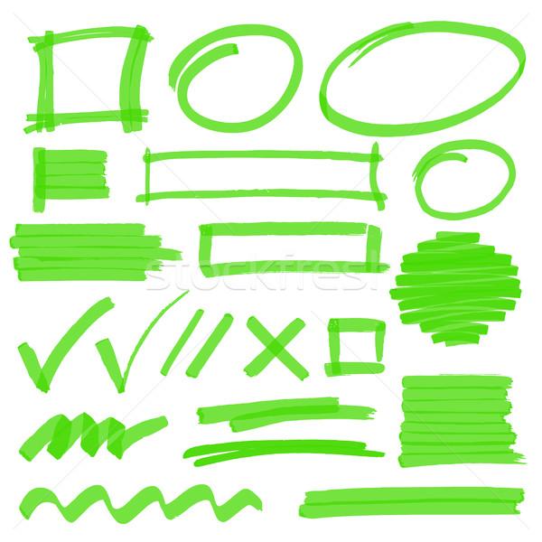 Surligneur design dessinés à la main Photo stock © creativika