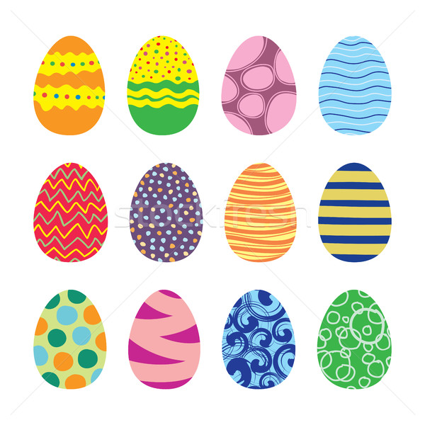 Easter eggs vettore set icone stile Foto d'archivio © creativika