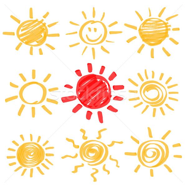 Vecteur surligneur soleil marqueur été Photo stock © creativika