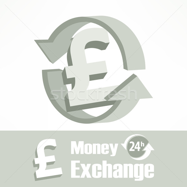 Pound simge gri ok para dizayn Stok fotoğraf © creatOR76