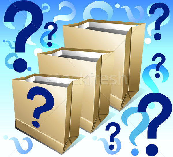Packages with question  Stock photo © creatOR76