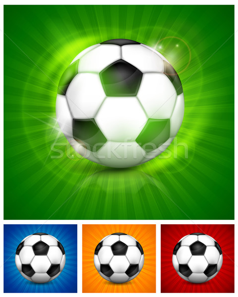 Fútbol balón de fútbol color cuero aislado deporte Foto stock © creatOR76