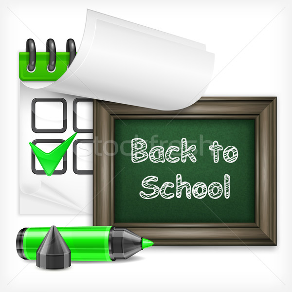 School blackboard and felt-tip pen Stock photo © creatOR76