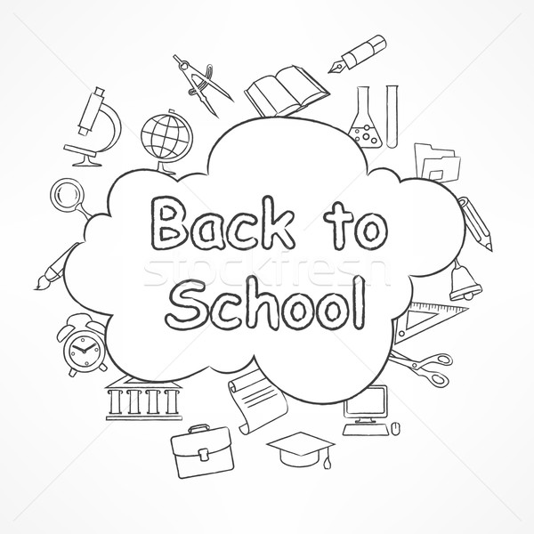 Freehand school illustration  Stock photo © creatOR76