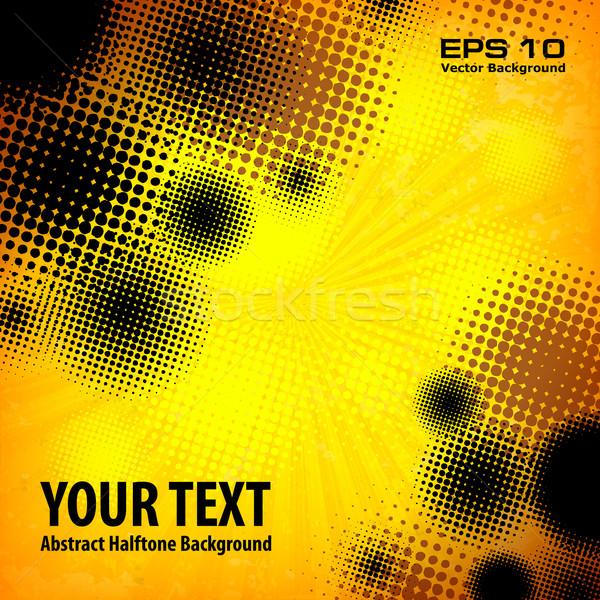 Halftone pattern on yellow Stock photo © creatOR76