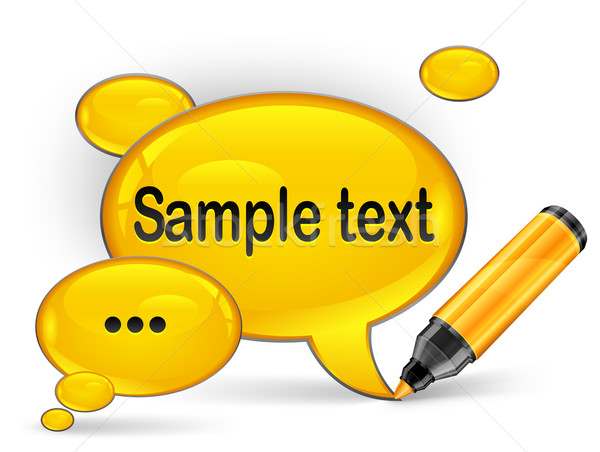 speech bubble & marker for text Stock photo © creatOR76