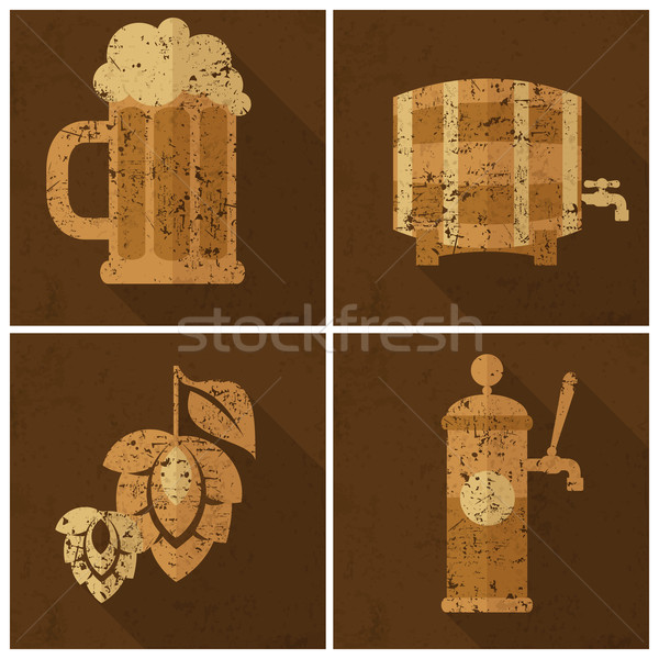 Октоберфест набор пива стекла ячмень хмель Сток-фото © creatOR76