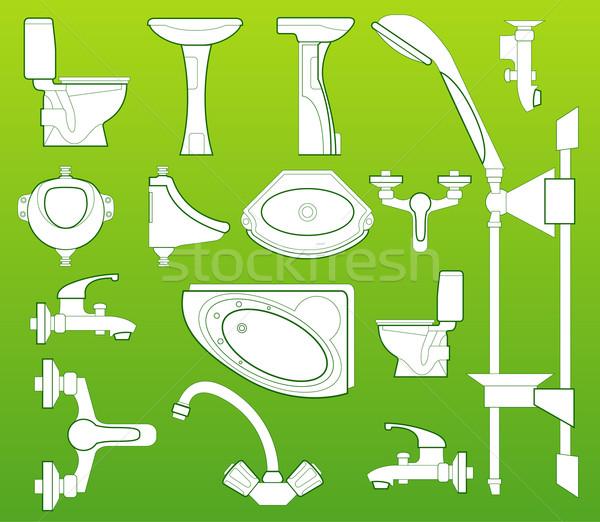 санитарный техник чаши туалет душу Сток-фото © creatOR76