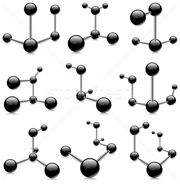Zwarte geïsoleerd communie witte geneeskunde wetenschap Stockfoto © creatOR76