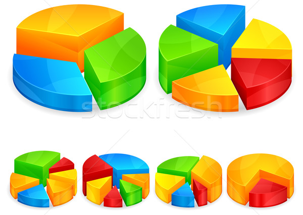 Color circular diagrams Stock photo © creatOR76