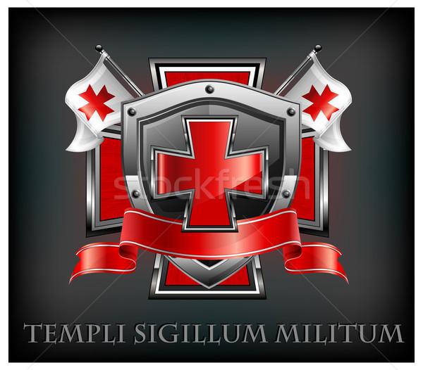 Templar emblem & text Stock photo © creatOR76