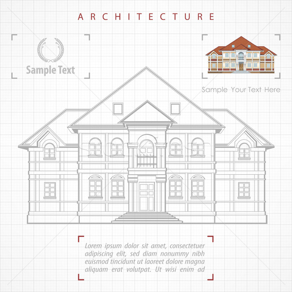 Architectural plan of building with specification Stock photo © creatOR76