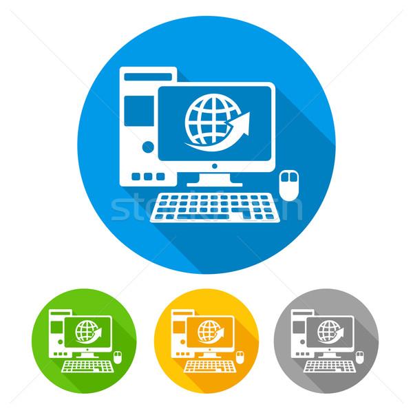 Computer icons round Stock photo © creatOR76