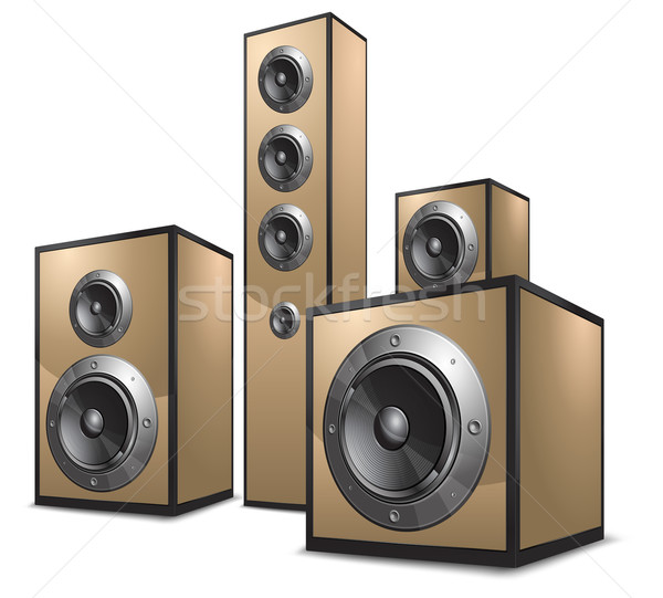 Acoustic system in gold Stock photo © creatOR76