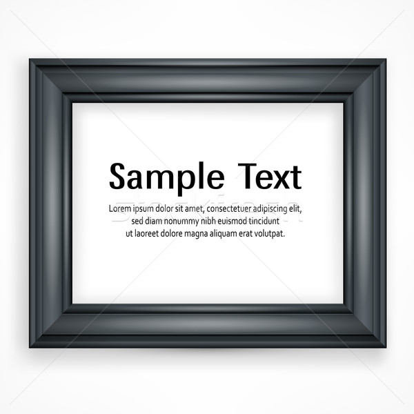 Wooden black frame on white Stock photo © creatOR76