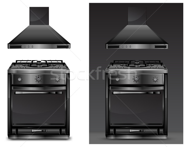 Black gas cooker over Stock photo © creatOR76