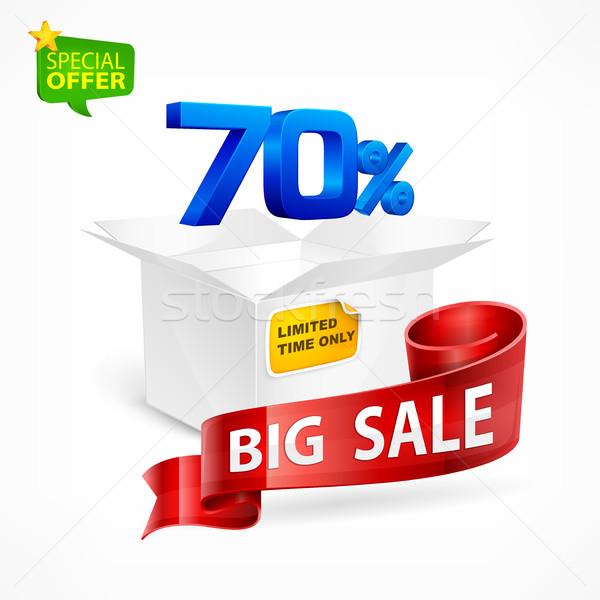 большой продажи процент окна торговых Сток-фото © creatOR76