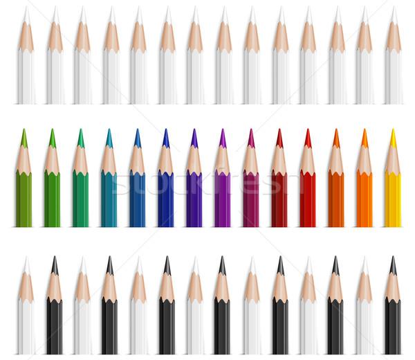 Colore matite set diverso disegno pen Foto d'archivio © creatOR76