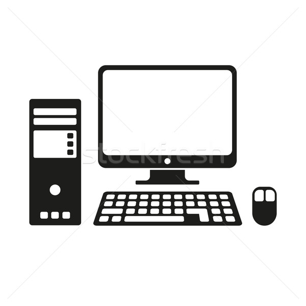 Computer icon Stock photo © creatOR76