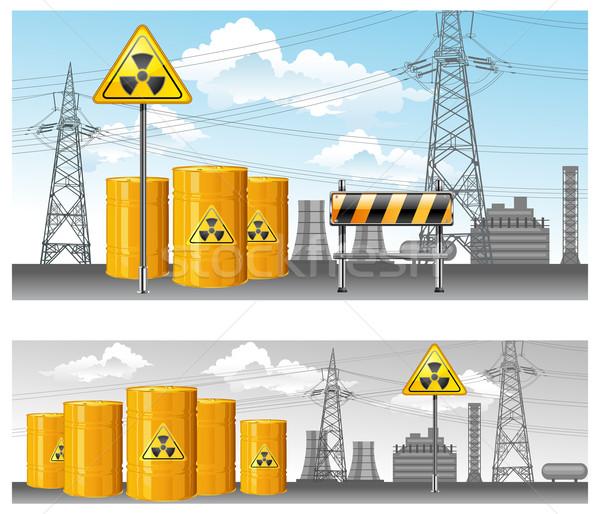 Nucleare territorio radioattivo rifiuti inquinamento ambiente Foto d'archivio © creatOR76