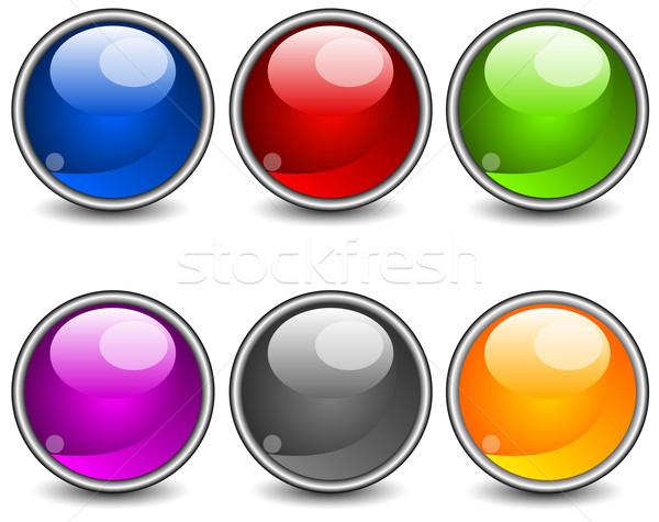 Aqua buttons Stock photo © creatOR76