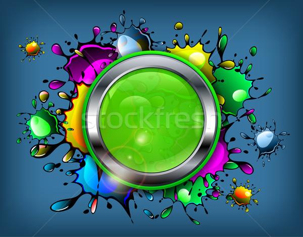 Color inkblot icon Stock photo © creatOR76