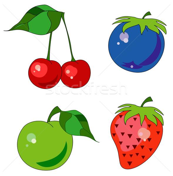 Fruct Colorat Icoane Diferit Fructe Cireş