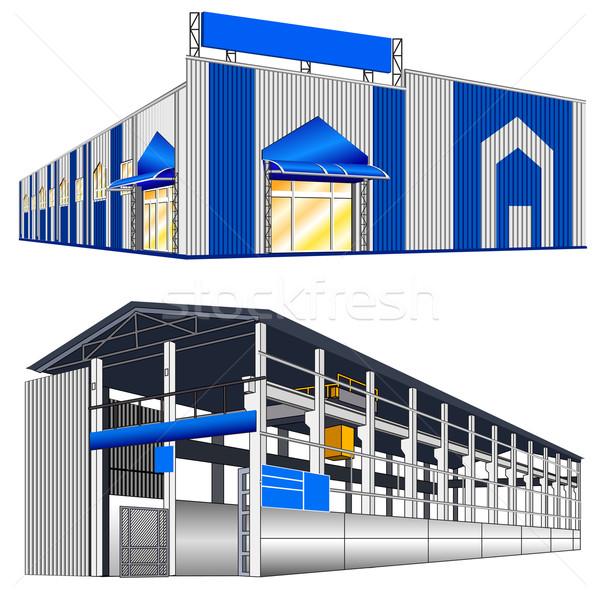 Hangar warehouse Stock photo © creatOR76