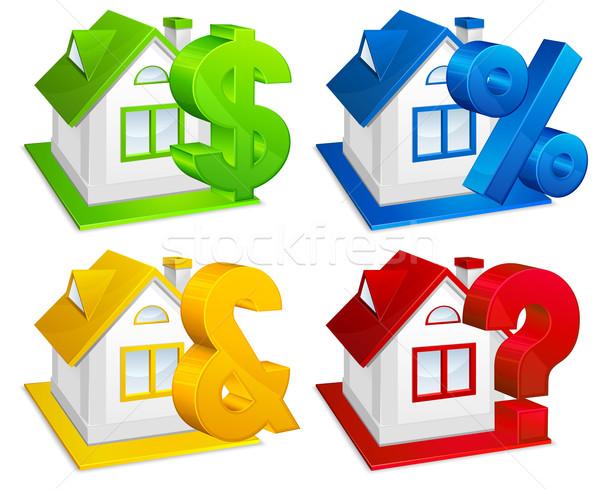 недвижимости модель дома финансовых бизнеса Сток-фото © creatOR76