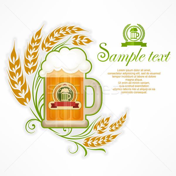 Glass mug of beer Stock photo © creatOR76