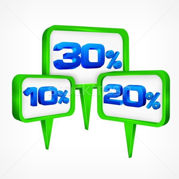 Percentage symbolen business winkelen groene Stockfoto © creatOR76