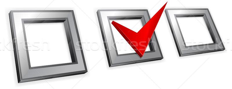 три красный изолированный белый бизнеса интернет Сток-фото © creatOR76