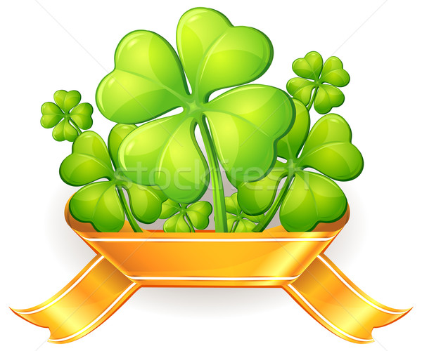 Clovers with ribbon Stock photo © creatOR76