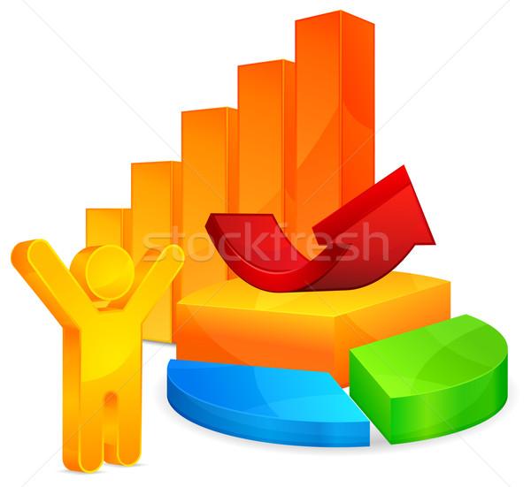 Economic diagrams Stock photo © creatOR76