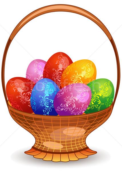 Easter eggs in basket  Stock photo © creatOR76