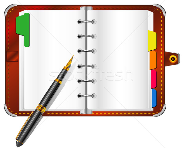 Organizer and pen Stock photo © creatOR76
