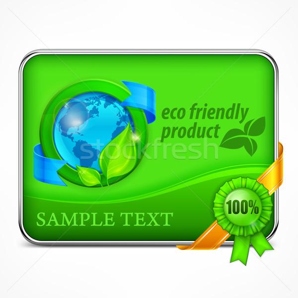 環境にやさしい インフォグラフィック 緑 自然 葉 背景 ストックフォト © creatOR76