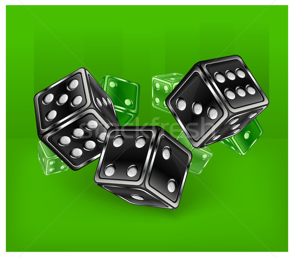 Dices on green Stock photo © creatOR76