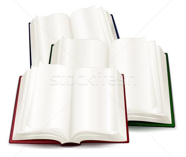 Libri tre open Hill tavola carta Foto d'archivio © creatOR76