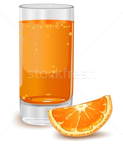 апельсиновый сок стекла изолированный белый лет жидкость Сток-фото © creatOR76