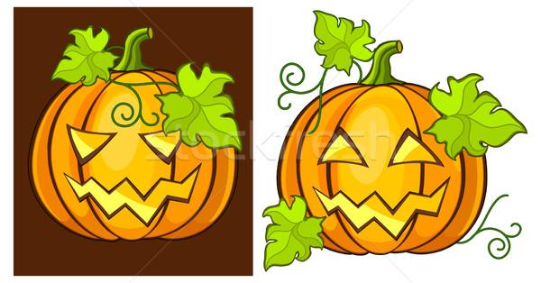 Halloween tökök rosszakaratú grimasz sütőtök étel Stock fotó © creatOR76