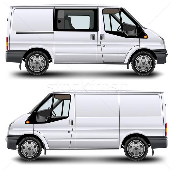 Minibus vracht vervoer witte familie auto Stockfoto © creatOR76