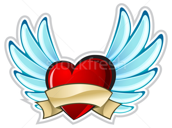 Heart with wings Stock photo © creatOR76