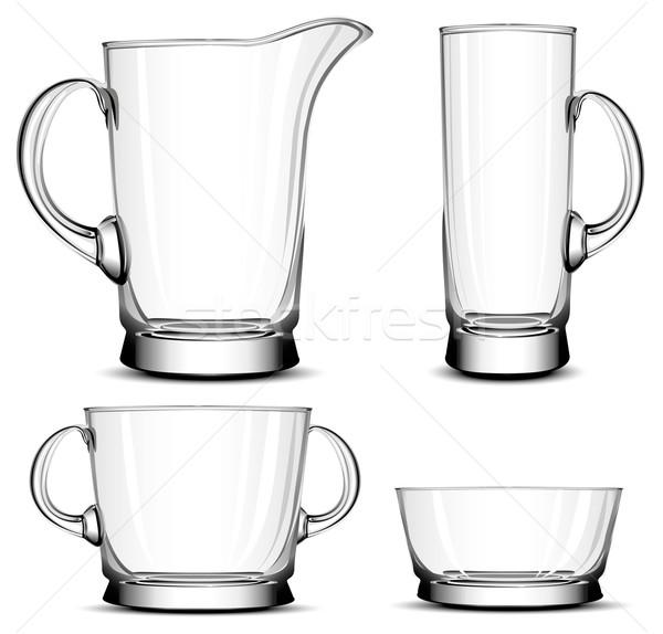 Glas tafelgerei decoratief objecten huishouden keuken Stockfoto © creatOR76