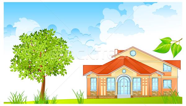 Panorama casa nice verde giudice cielo Foto d'archivio © creatOR76