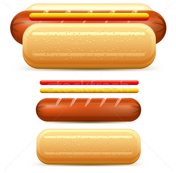 Hotdog stylized Stock photo © creatOR76