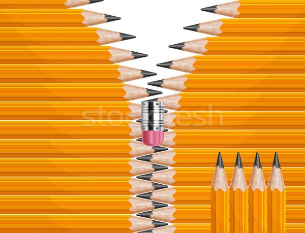 Zipper pencils  Stock photo © creatOR76