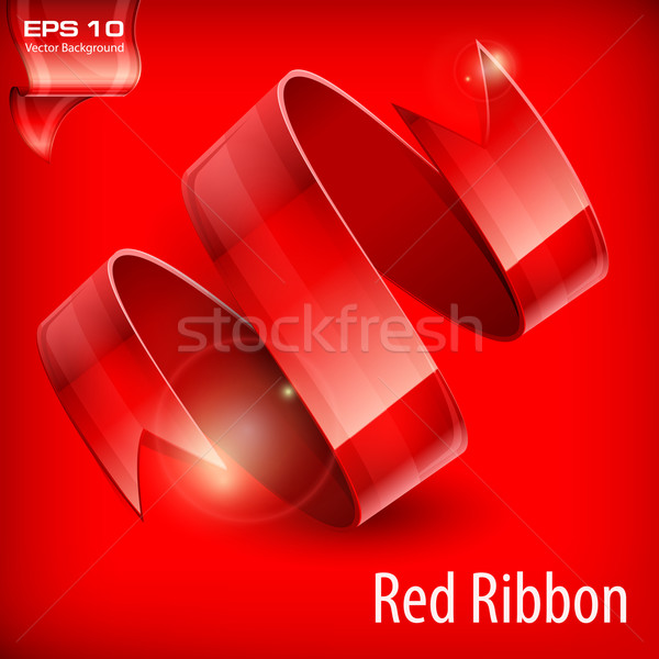 Red serpentine Stock photo © creatOR76