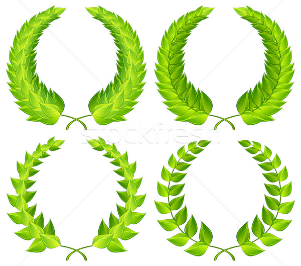 Green laurel wreaths Stock photo © creatOR76